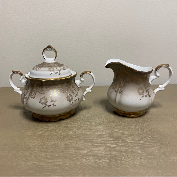 Vintage Other - Vintage Eberthal Bavaria China Sugar + Creamer Set